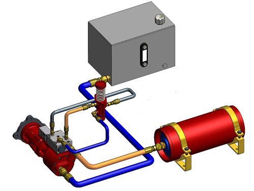 Hydraulic Life Support : Hydraulic starting systems for quot black start capability